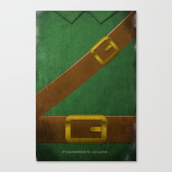 Video Game Poster: Adventurer Canvas Print