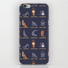 American Pit Bull Terrier Yoga iPhone Skin