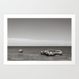 Seacoast of Adriatic Sea in Salento Italy Art Print