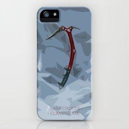Lara's Climbing Axe iPhone Case