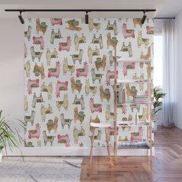 Llama love / Alpaca adventure wanderlust travel / animal baby nursery gift for her shower decor Wall Mural