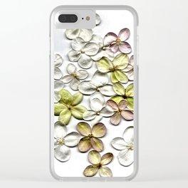 Hydrangea Petals Clear iPhone Case