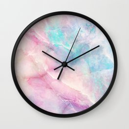 Iridescent marble Wall Clock