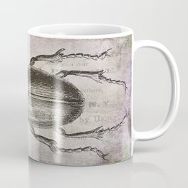 Grunge Style Stag Beetle Coffee Mug