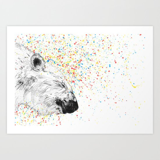 Polar Bear // Endangered Animals Art Print