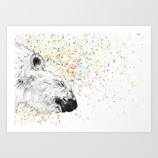 Polar Bear // Endangered Animals Art Print