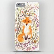 Fox and Flowers II Slim Case iPhone 6 Plus