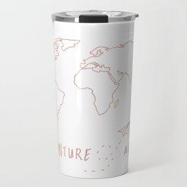 Adventure Map in Rose Gold Travel Mug