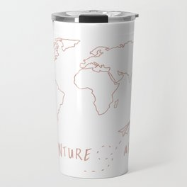 Adventure Map in Rose Gold Travel Mug