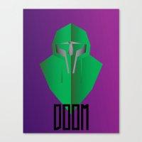 mf doom Canvas Prints featuring MF DOOM by Tonytintheplace