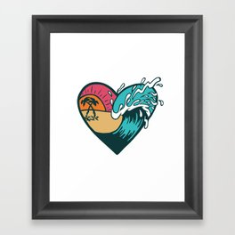 Wave Heart Framed Art Print