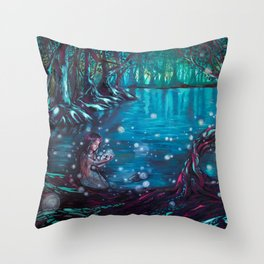 Soñé que te arrullé. Throw Pillow
