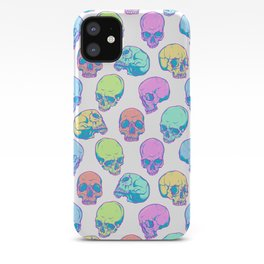 Colored skulls iPhone Case
