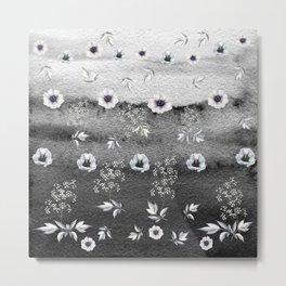 Winter Flower Garden Metal Print