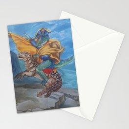 napoleonic dinosaur Stationery Cards