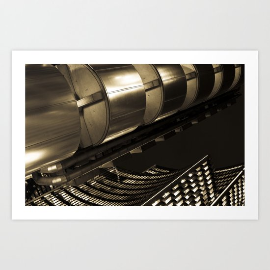 Lloyds of London Abstract Art Print