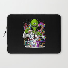 Alien Psychedelic Scientist Laptop Sleeve