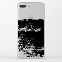 VICTIMIZED - black with no background Clear iPhone Case