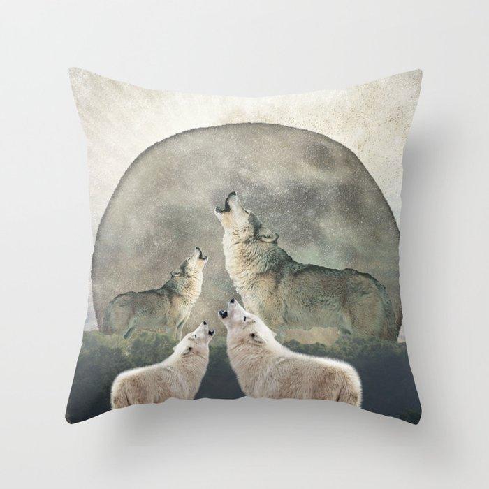 Aegis Wolves Throw Pillow