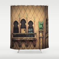 melbourne Shower Curtains featuring The Melbourne Forum Theatre by Paul Vayanos