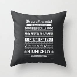 We Are All Connected (Black) Throw Pillow