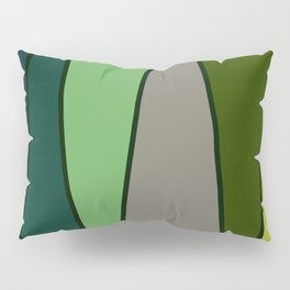 Green Abstract Pattern Turtle Pillow Sham