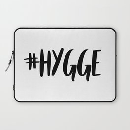 #hygge - scandi quote trend hashtag Laptop Sleeve