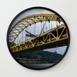 Pittsburgh Tour Series - Bridge from River Wall Clock