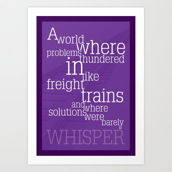 Thundering Problems And Whispering Solutions Art Print