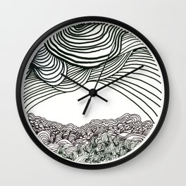 Stress Valley Wall Clock