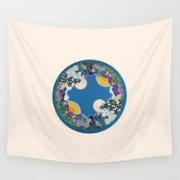 mandala Wall Tapestries featuring Mandala by Abundance