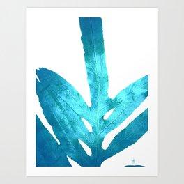 Ocean Blue Fern Art Print