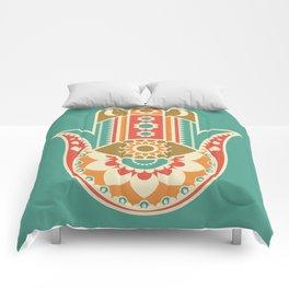 Colorful Hamsa Hand Comforters