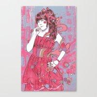 kawaii Canvas Prints featuring Kawaii by reymonstruo