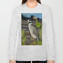 Yellow Crown Night Heron Long Sleeve T-shirt