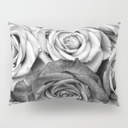 The Roses (Black and White) Pillow Sham