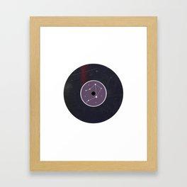 Vinyl Record Star Sign Art | Libra Framed Art Print