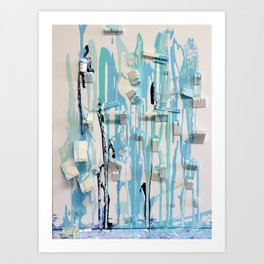 Collapsing Shelter Art Print