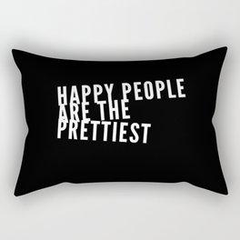 Happiness Creates Beauty Rectangular Pillow