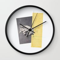 cigarettes Wall Clocks featuring Cigarettes & Cigarettes by Julien Ulvoas