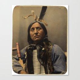 Left Hand Bear, Oglala Sioux chief Canvas Print