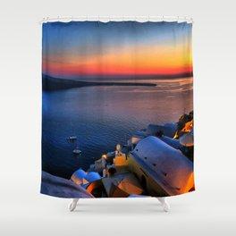 Santorini 19 Shower Curtain