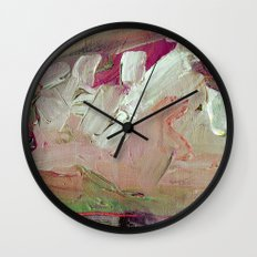 Abstract Purple Green Sky Wall Clock