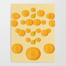 Orange and Banana Simple Design Poster