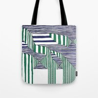 stripes Tote Bags featuring Stripes by Take F1ve