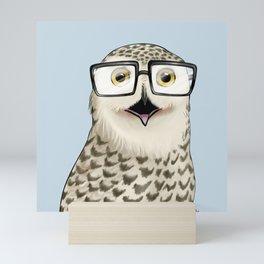Owl Geek Chic Mini Art Print