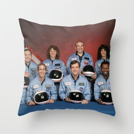 Space Shuttle Challenger Crew, November 1985 Throw Pillow