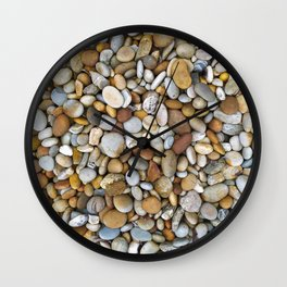Sea pebbles #pebble #sea #nature Wall Clock