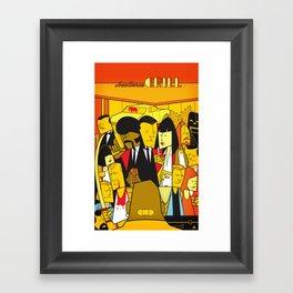 Pulp Fiction (variant aspect ratio) Framed Art Print