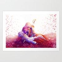 utena Art Prints featuring The Rose Bride by Yoccu